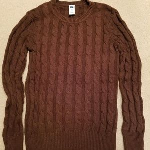 GAP cable knit sweater - brown